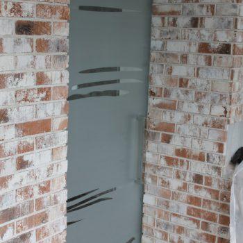 Раздвижная дверь (матовая с рисунком)