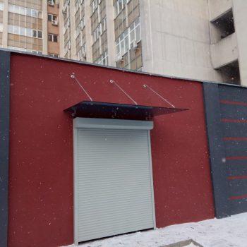 Козырек из закаленного стекла 10мм - Графит.